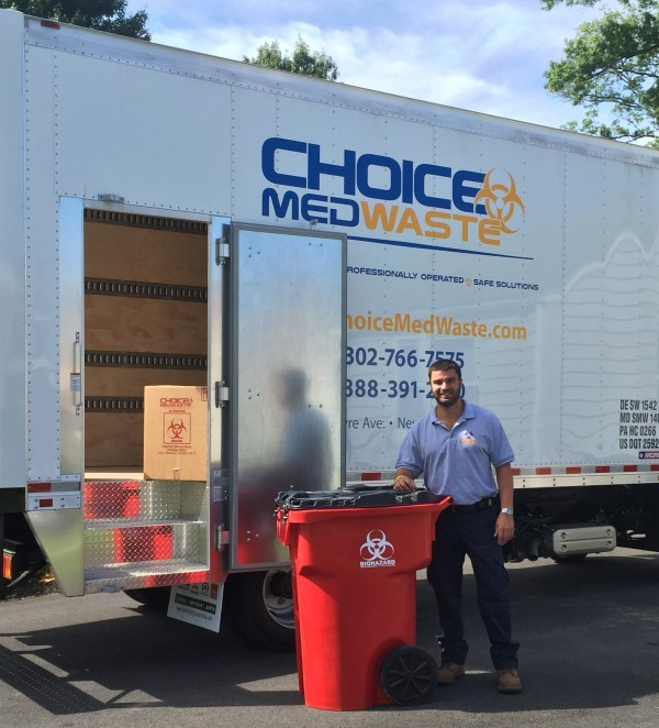 man providing medical waste services in montgomery county