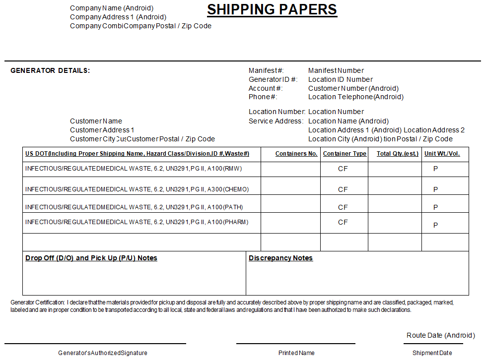 Reporting Shipping Paper Management Picpreview Choice Medwaste